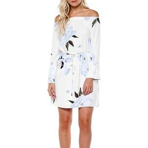 Dex Off-the-Shoulder White/Floral Dress